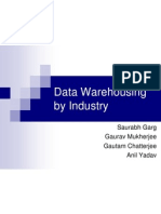 Data Warehousing in service industry