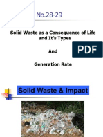 Lec # 28-29 Solid Waste and Its Impact