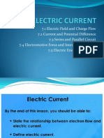7.1 Electric Current and Charge