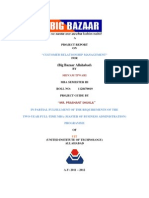 Shivam Big Bazaar Project Report