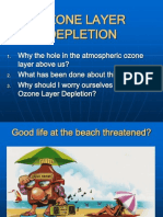 Ozone Layer Depletion, Its Causes and Its Effects