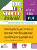 Boletín 28 Septiembre 2012 Acciones de la Región