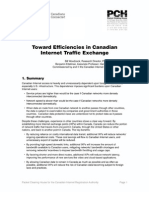 Toward Efficiencies in Canadian Internet Traffic Exchange