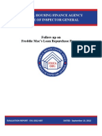 FHFA OIG Report on Freddie Mac Loan Repurchase Requests - 9-13-2012