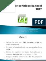 Guía 1 de certificación Excel 2007