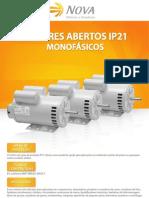 Motores Monofásicos Abertos IP21