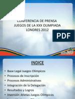 Conferencia de Prensa Juegos Olimpicos