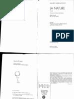 Maurice Merleau-Ponty La Nature Notes, Cours Du College de France Traces Ecrites 1995