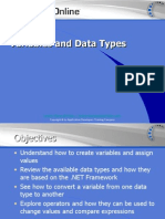 .NET Variables and Data Types