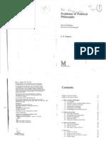 Problems of Political Philosophy - D. D. Raphael