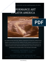 lecture performance art latin america