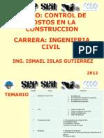 Presentacion Curso Control de Costos 2012