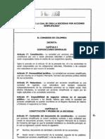 Ley 1258-08 (Sociedad Por Acciones Simplificada