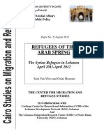 Cairo Studies - The Syrian Refugees in Lebanon April 2011-April 2012