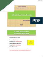 Aula1.Microbiologia Dos Alimentos