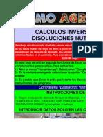 Calculo Inverso de Soluciones Nutritivas (Macronutrientes).Version Corregida a 18-02-2012