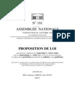 Proposition de loi de Guillaume Larrivé et Eric Ciotti pour renforcer la protection des policiers et des gendarmes