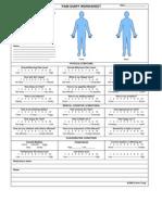 Pain Diary Worksheet
