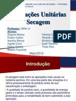 TRABALHO OPERAÇOES UNITARIAS - Secagem - Aluna