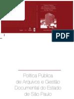 Livro Politica Publica de Arquivos e Gestao Documental