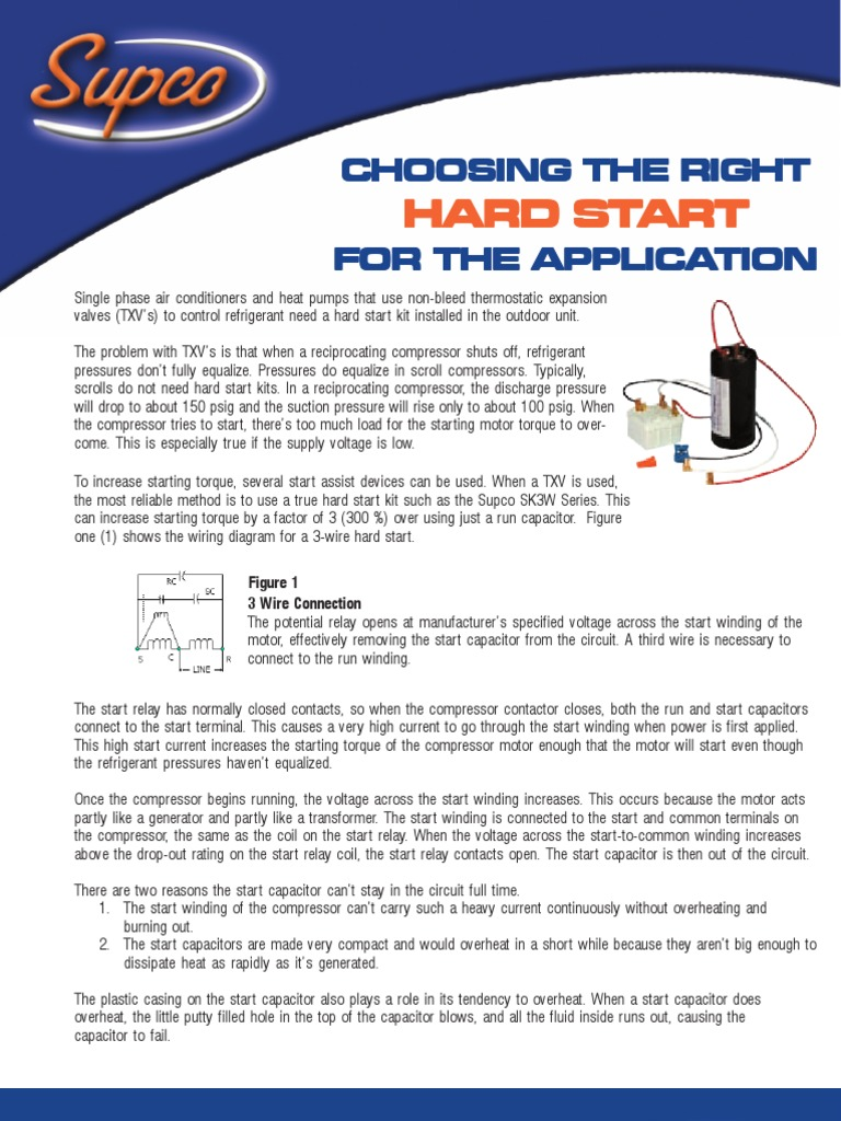 Images Of Hard Starting How To Calto 2wire Capacitor Wiring Diagram Install 2 Wire Start Kit Diagrams