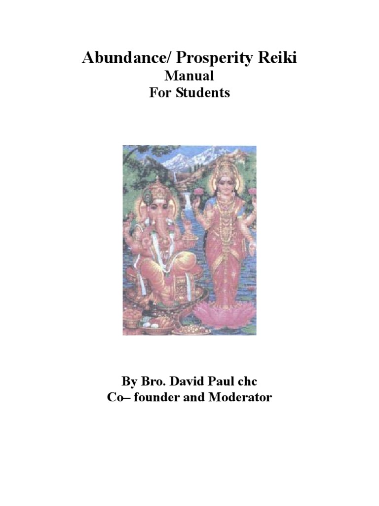 Abundance Prosperity Reiki Manual Indian Religions Rituals