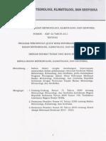 Kep 02 Tahun 2012 Program Percepatan (Quick Wins) Reformasi Birokrasi Bmkg