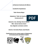 Clasificacion de Suelos Segun El RCDF