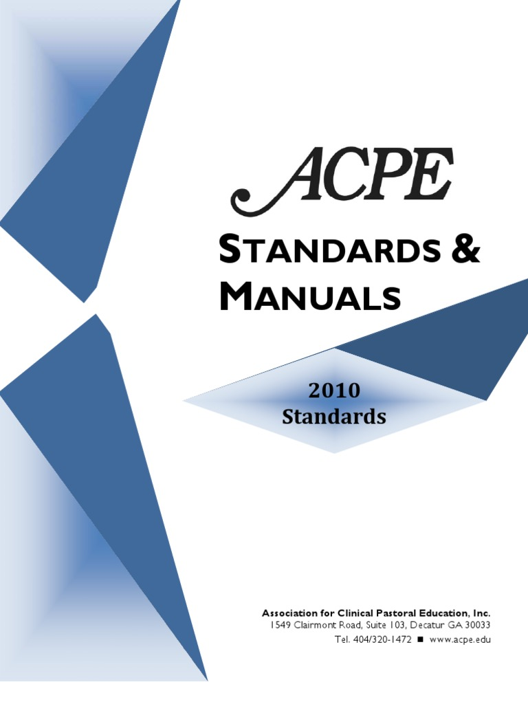 2010 Standards Cpe Competence Human Resources Curriculum