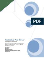EDTECH 554 - District Technology Plan Review