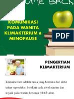 Komunikasi Pada Wanita Klimakterium & Menopause