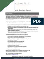 Associate (Quantitative Research)