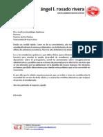 Carta a Ana Rosa Guadalupe sobre servicios en Asistencia Económica