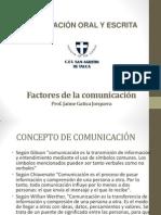 CLASE N° 1 FACTORES DE LA COMUNICACIÓN