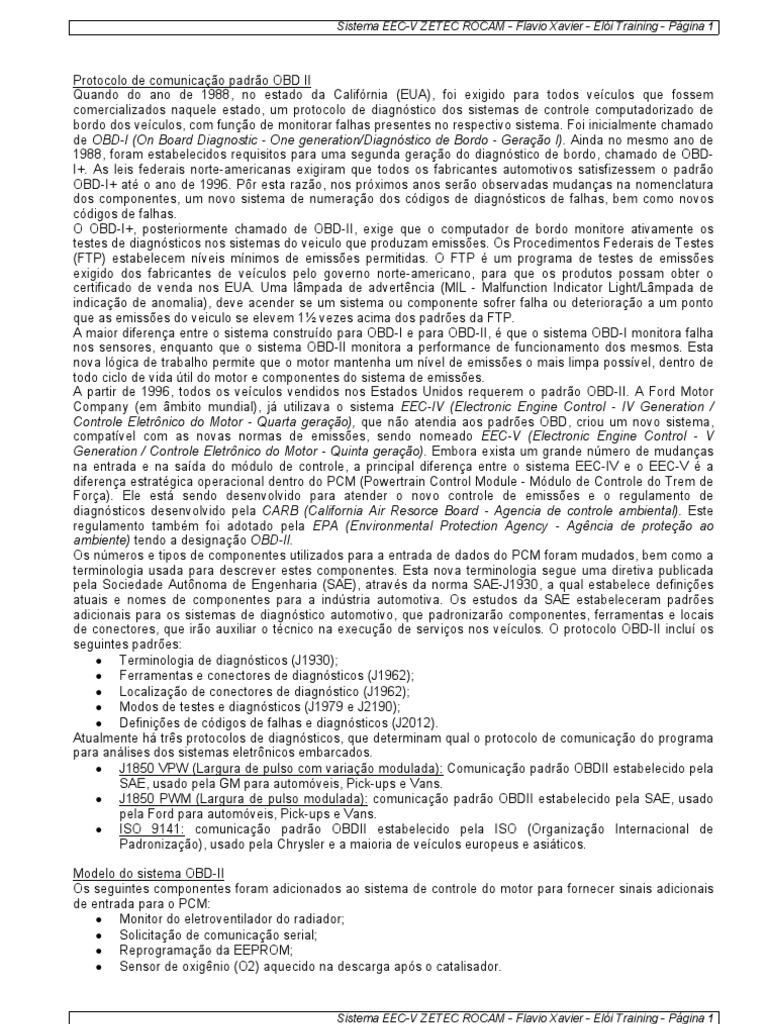 Manual Ford Eec v Zetec Rocam