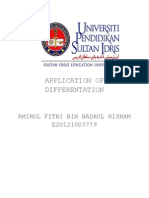 Application of Differentation