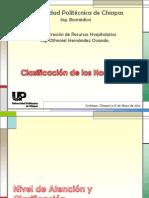 Clasificación de los Hospitales
