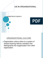 Ethical Issue in Organisational Culture