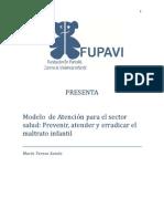 Modelo de Atención Al Maltrato Infantil - Sector Salud
