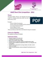 Wmc Short Film Competition 2012 Application Form - English