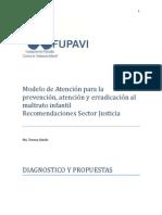 Modelo de Atención Para El Maltrato Infantil - Recomendaciones Sector Justicia