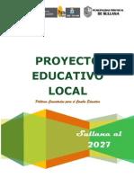 PROYECTO EDUCATIVO LOCAL DE SULLANA Versión post consulta