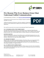 5 Reasons Why Every Business Owner Must Understand Unified Communications