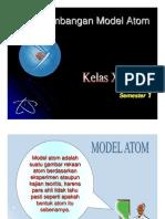 Microsoft Powerpoint Perkembangan Model Atom