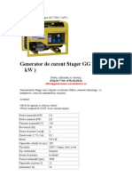 Generator de Curent Stager GG 7500