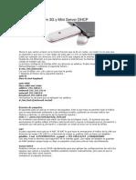 Compartir Modem 3G y Mini Server DHCP