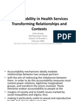 Accountability in Health Services