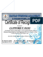 Boy Scout Certificate