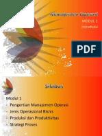 Pengertian Manajemen Operasi