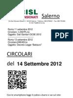 Circolari Del 14 Settembre 2012